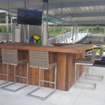 Custom tiki bar, finished by customer