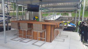Custom tiki bar, finished by customer