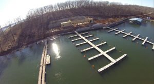 Tap N Grill Aerial Dock View